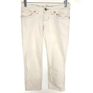 GUESS Womens Skinny Crop Jeans 24 White Casual